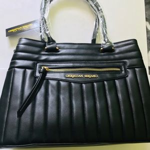 New with tags, Christian Siriano black purse
